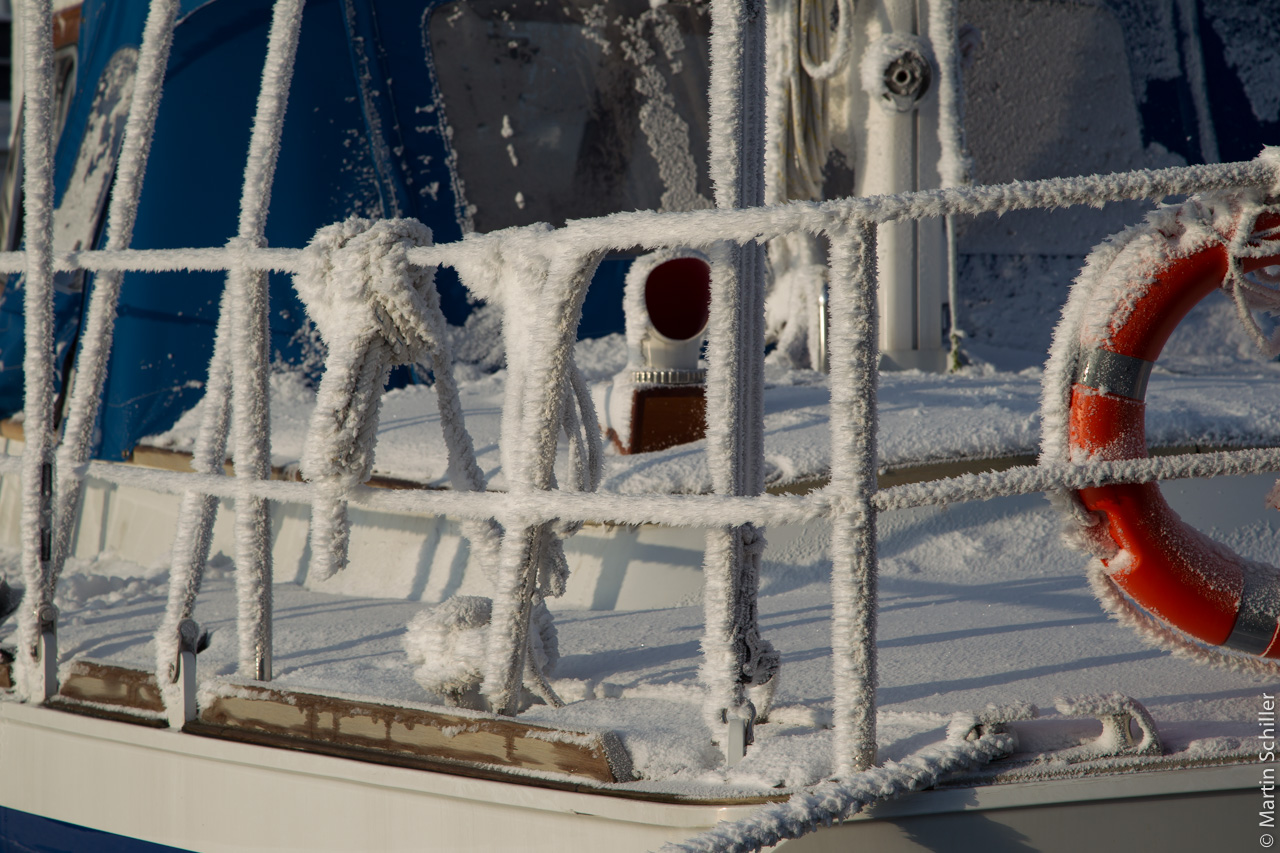 Warme Arktis im Winter