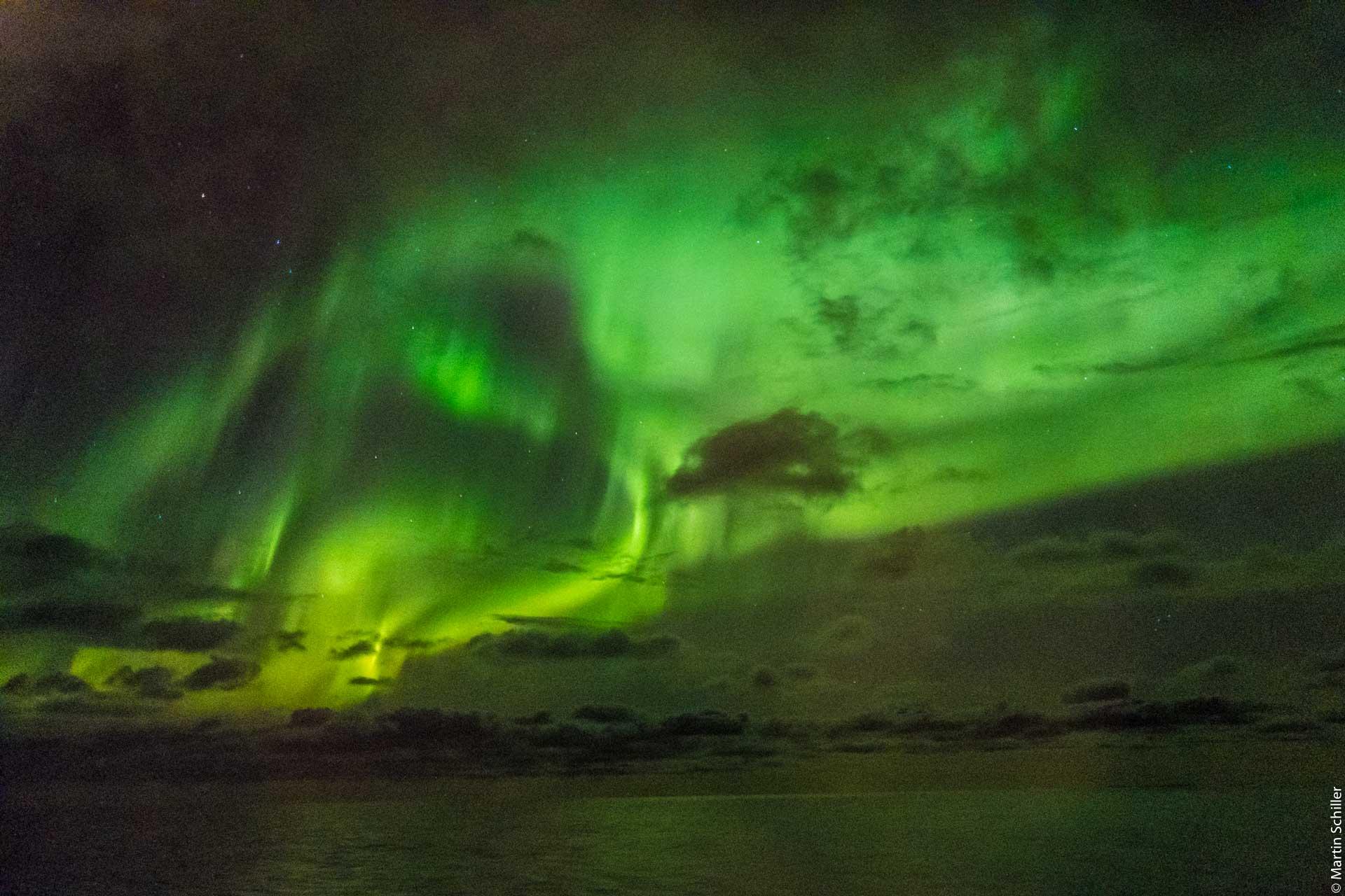 Spektakuläre Polarlichter überm Nordkap