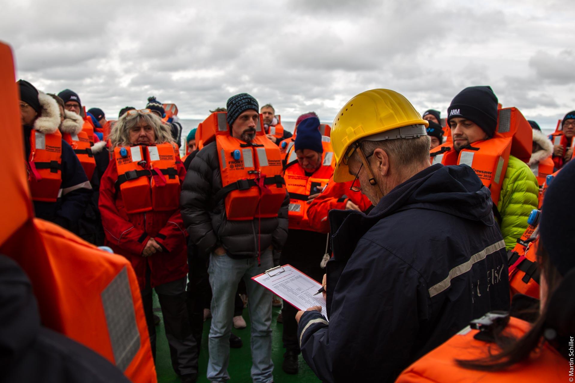 Polarstern Sicherheitseinweisung